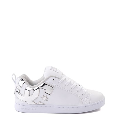 Main view of Womens DC Court Graffik Skate Shoe - White / Silver