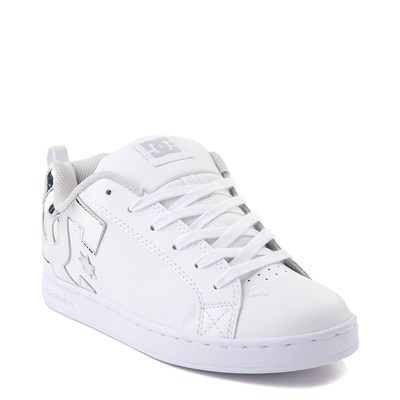Alternate view of Womens DC Court Graffik Skate Shoe - White / Silver