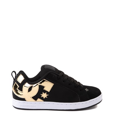 Main view of Womens DC Court Graffik Skate Shoe - Black / Gold
