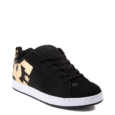 Alternate view of Womens DC Court Graffik Skate Shoe - Black / Gold