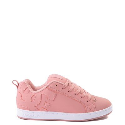 Main view of Womens DC Court Graffik Skate Shoe - Rose