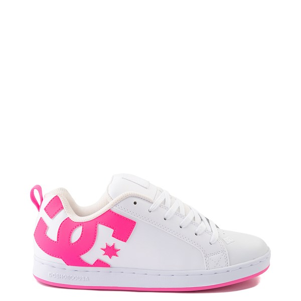 Womens DC Court Graffik Skate Shoe - White / Pink