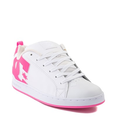 Alternate view of Womens DC Court Graffik Skate Shoe - White / Pink