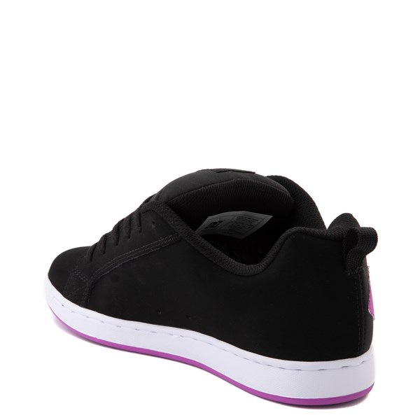 alternate view Womens DC Court Graffik Skate Shoe - Black / PurpleALT2