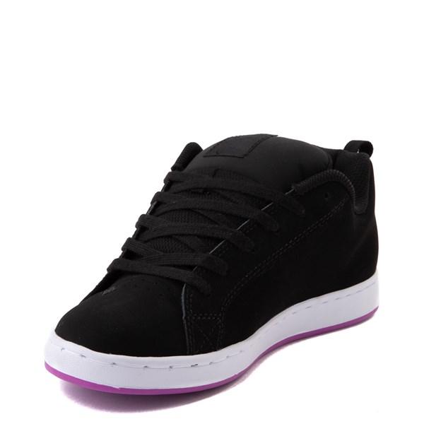 alternate view Womens DC Court Graffik Skate Shoe - Black / PurpleALT3