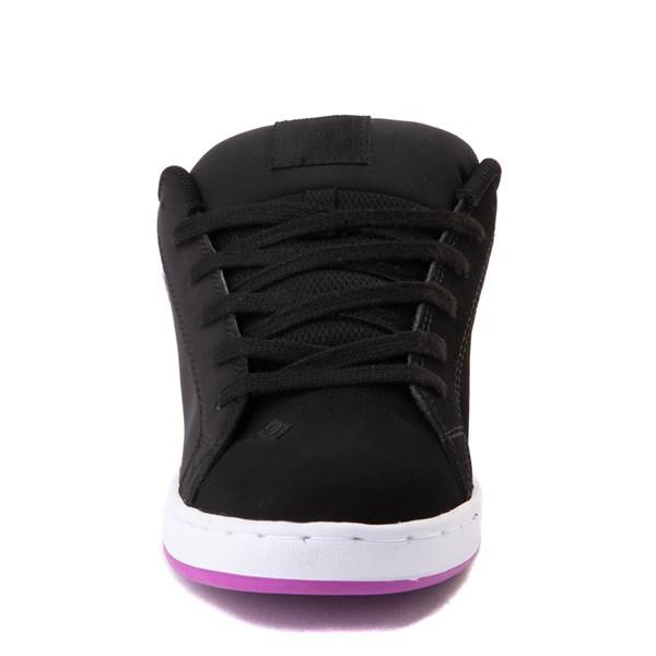 alternate view Womens DC Court Graffik Skate Shoe - Black / PurpleALT4