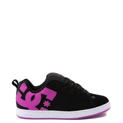 Main view of Womens DC Court Graffik Skate Shoe - Black / Purple