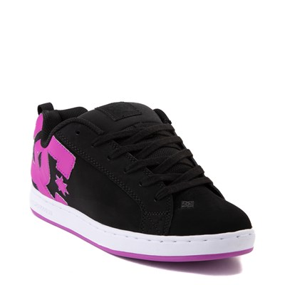Alternate view of Womens DC Court Graffik Skate Shoe - Black / Purple