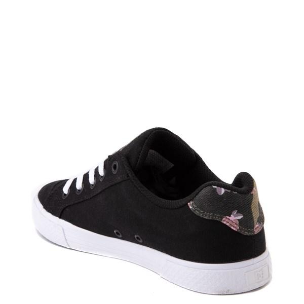 alternate view Womens DC Chelsea TX SE Skate Shoe - Black / CamoALT2