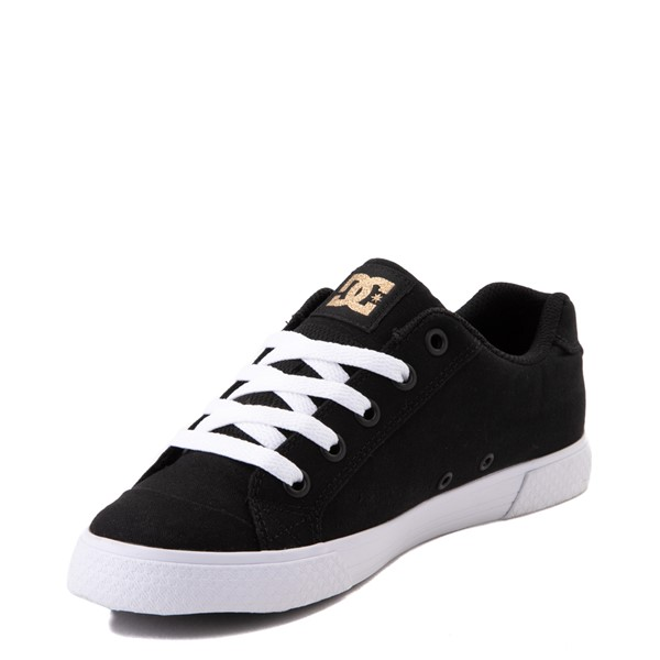 alternate view Womens DC Chelsea TX Skate Shoe - Black / GoldALT2
