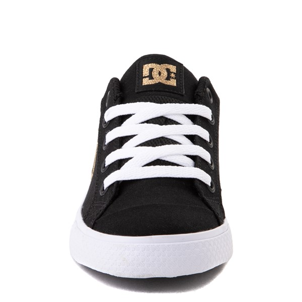 alternate view Womens DC Chelsea TX Skate Shoe - Black / GoldALT4