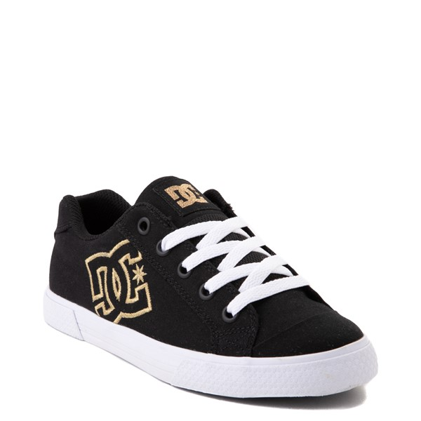 alternate view Womens DC Chelsea TX Skate Shoe - Black / GoldALT5