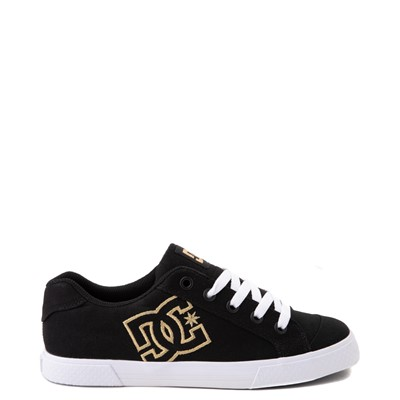 Main view of Womens DC Chelsea TX Skate Shoe - Black / Gold