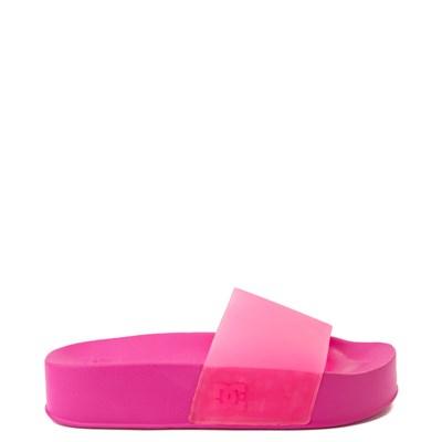Main view of Womens DC Slider Platform Slide Sandal - Hot Pink