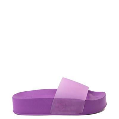 Main view of Womens DC Slider Platform Slide Sandal - Purple
