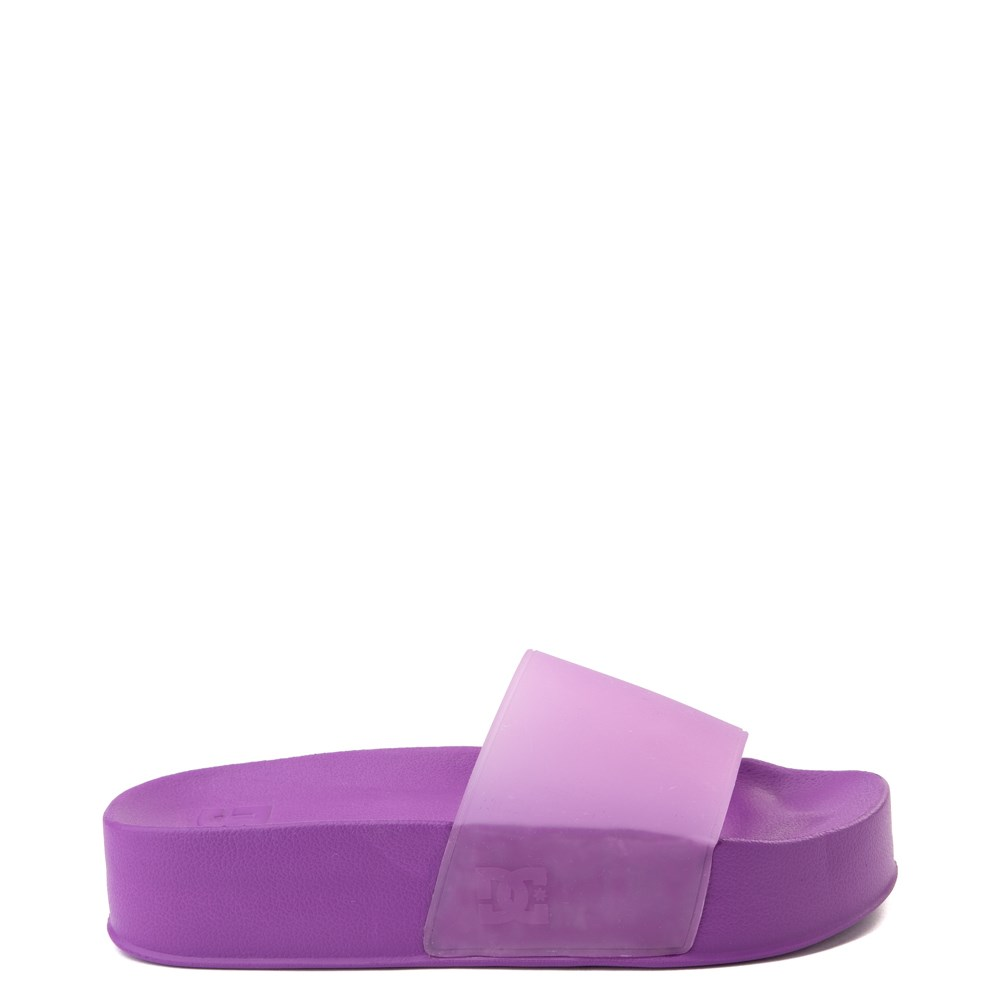 Womens DC Slider Platform Slide Sandal - Purple