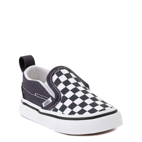 alternate view Vans Slip On V Checkerboard Skate Shoe - Baby / Toddler - India InkALT1