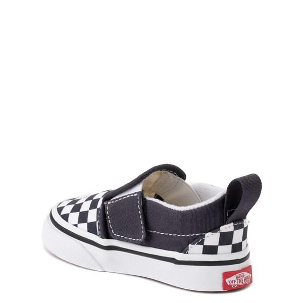 alternate view Vans Slip On V Checkerboard Skate Shoe - Baby / Toddler - India InkALT2