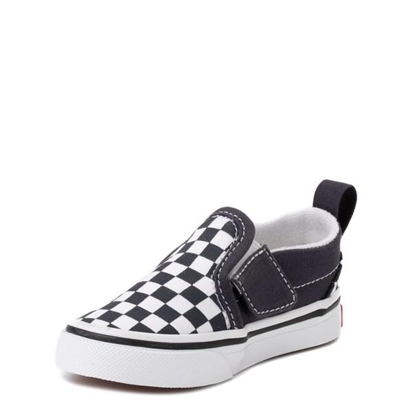 alternate view Vans Slip On V Checkerboard Skate Shoe - Baby / Toddler - India InkALT3