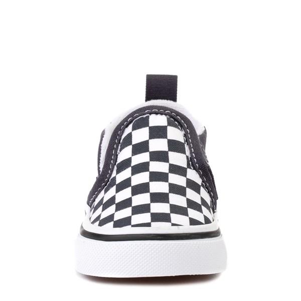 alternate view Vans Slip On V Checkerboard Skate Shoe - Baby / Toddler - India InkALT4