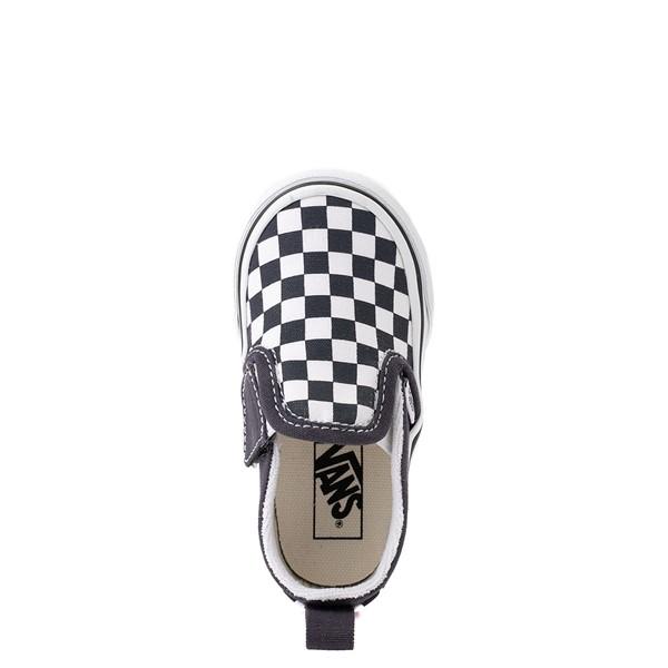 alternate view Vans Slip On V Checkerboard Skate Shoe - Baby / Toddler - India InkALT4B
