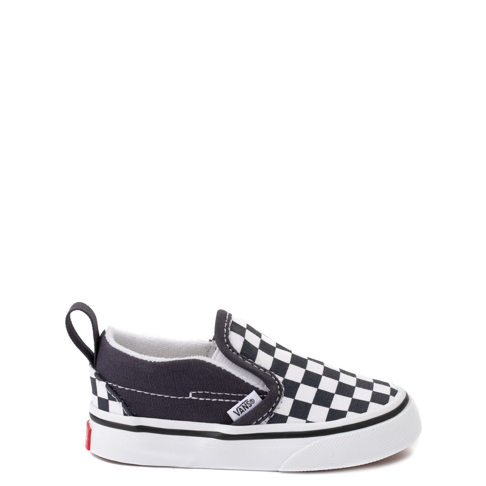 Vans Slip On V Checkerboard Skate Shoe - Baby / Toddler - India Ink