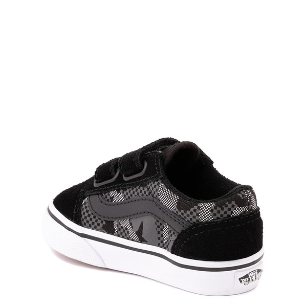 alternate view Vans Old Skool V Skate Shoe - Baby / Toddler - Black / Gray CamoALT1