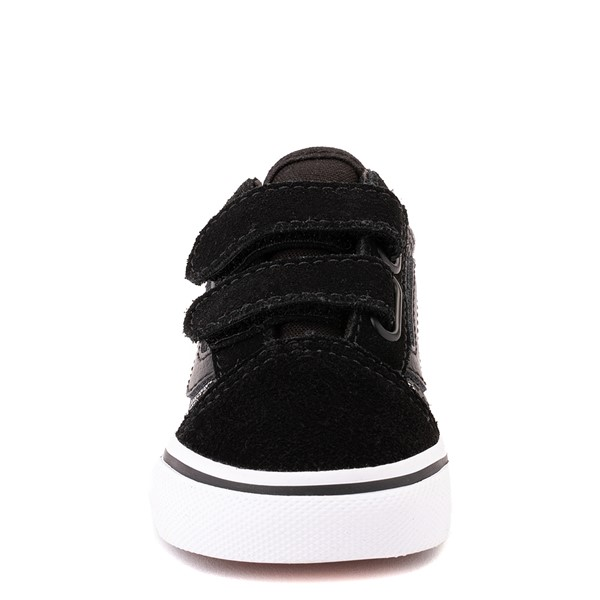 alternate view Vans Old Skool V Skate Shoe - Baby / Toddler - Black / Gray CamoALT4
