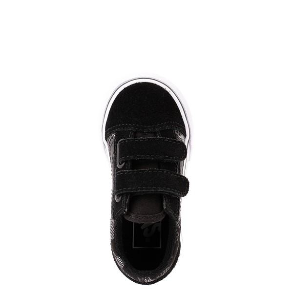 alternate view Vans Old Skool V Skate Shoe - Baby / Toddler - Black / Gray CamoALT4B