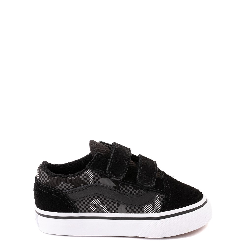 Vans Old Skool V Skate Shoe - Baby / Toddler - Black / Gray Camo