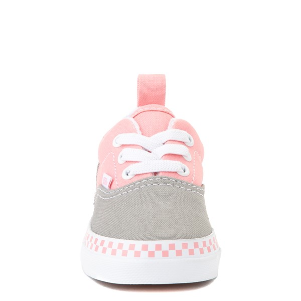 alternate view Vans Era Checkerboard Skate Shoe - Baby / Toddler - Drizzle Gray / PinkALT4