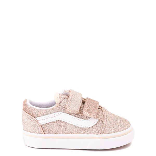 Vans Old Skool V Glitter Skate Shoe - Baby / Toddler - Brazilian Sand