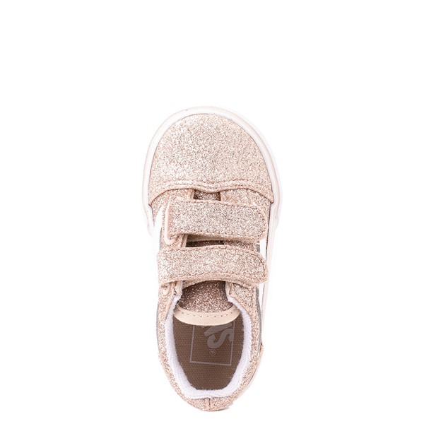 alternate view Vans Old Skool V Glitter Skate Shoe - Baby / Toddler - Brazilian SandALT2