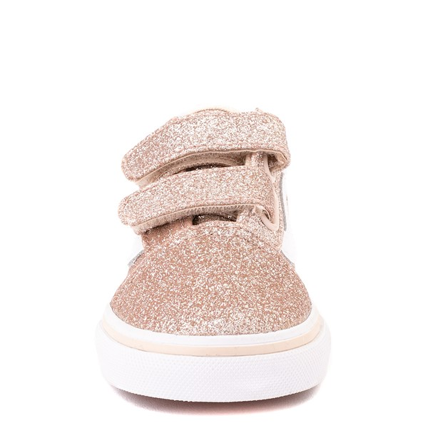 alternate view Vans Old Skool V Glitter Skate Shoe - Baby / Toddler - Brazilian SandALT4