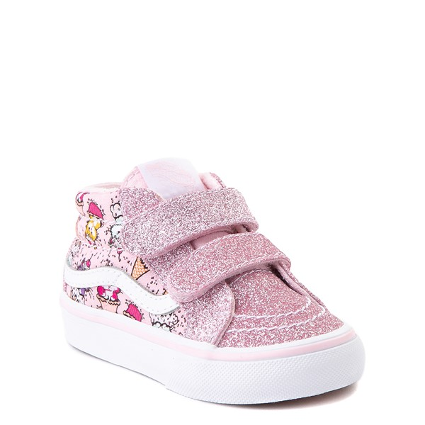 alternate view Vans Sk8 Mid Reissue V Kitty Cake Skate Shoe - Baby / Toddler - BlushALT1