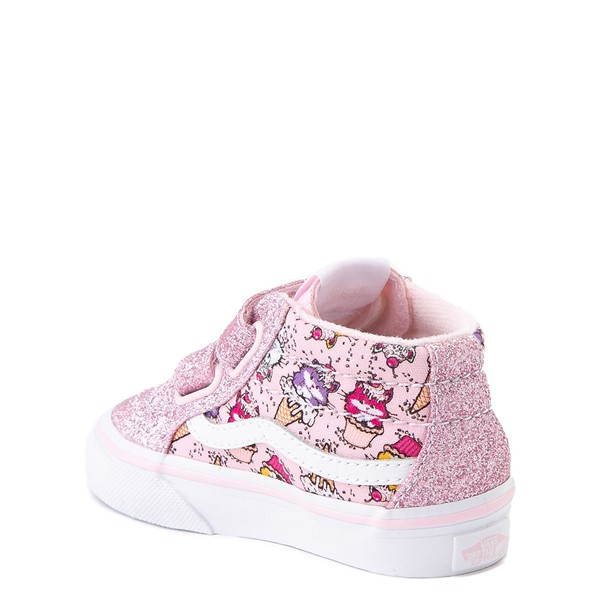 alternate view Vans Sk8 Mid Reissue V Kitty Cake Skate Shoe - Baby / Toddler - BlushALT2