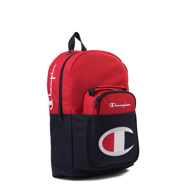 alternate view Champion SuperCize Backpack - Red / NavyALT4B