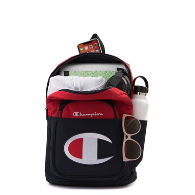Alternate view of Champion SuperCize Backpack - Red / Navy