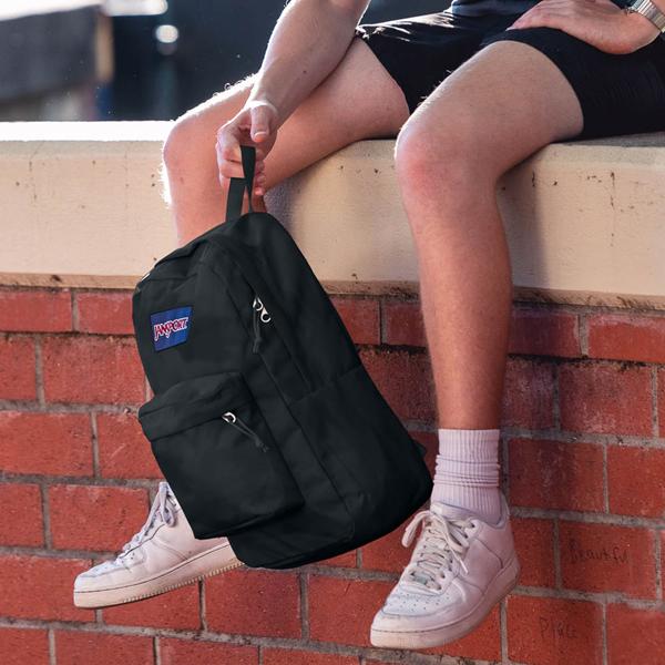 alternate view JanSport Superbreak Plus Backpack - BlackALT1D