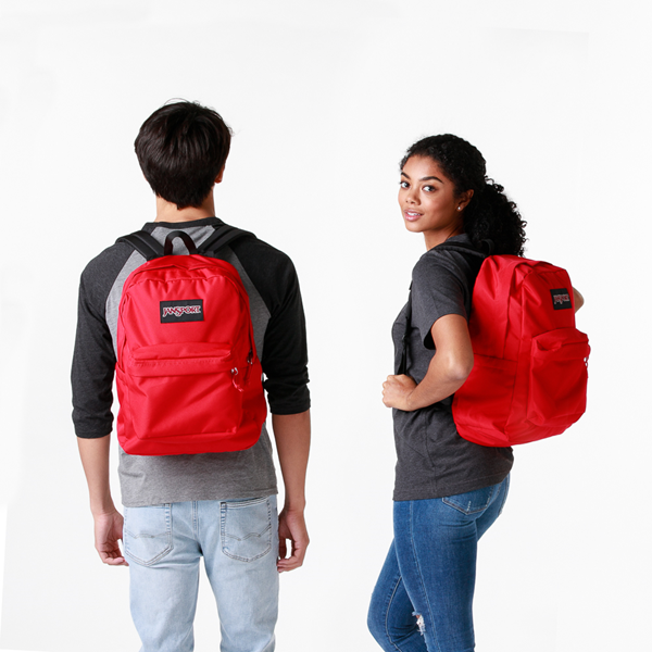 alternate view JanSport Superbreak Plus Backpack - Red TapeALT1BADULT