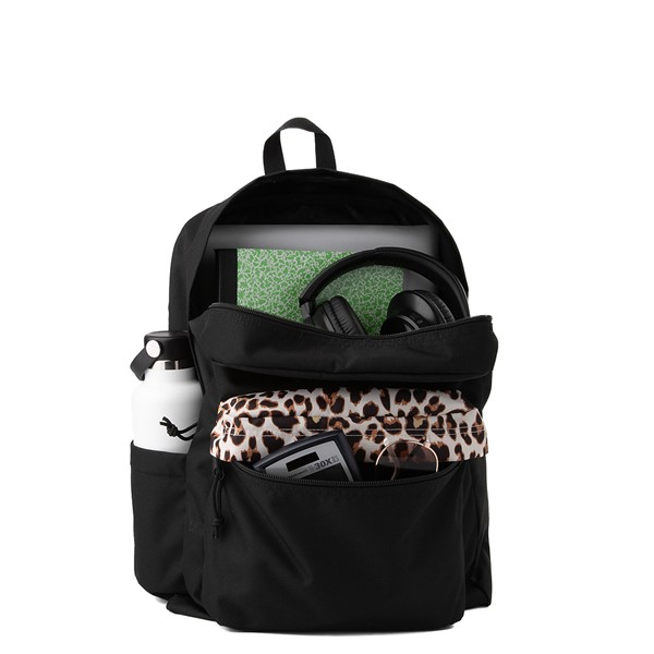 alternate view JanSport Superbreak Plus Backpack - Black / LeopardALT1