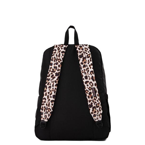 alternate view JanSport Superbreak Plus Backpack - Black / LeopardALT2