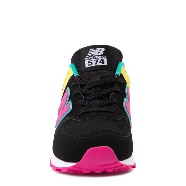 alternate view New Balance 574 Athletic Shoe - Little Kid - Black / Neon MulticolorALT4