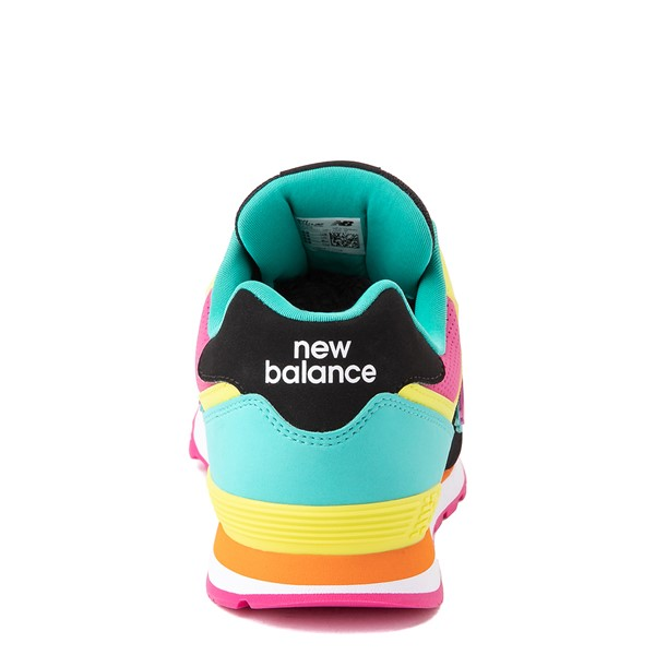 alternate view New Balance 574 Athletic Shoe - Big Kid - Black / Neon MulticolorALT4