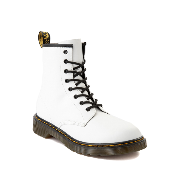 alternate view Dr. Martens 1460 8-Eye Boot - Big Kid - WhiteALT5