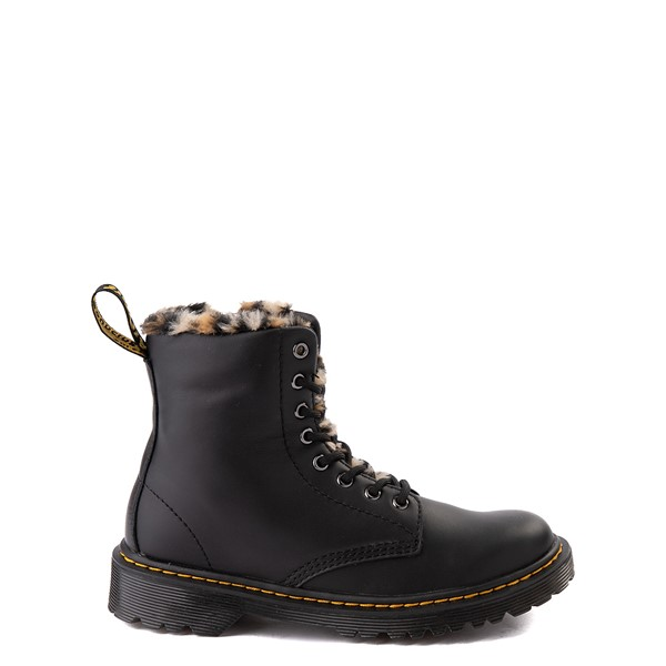 Main view of Dr. Martens 1460 8-Eye Serena Boot - Little Kid / Big Kid - Black / Leopard
