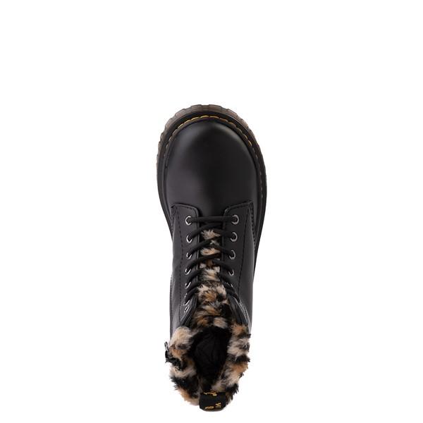 alternate view Dr. Martens 1460 8-Eye Serena Boot - Little Kid / Big Kid - Black / LeopardALT2