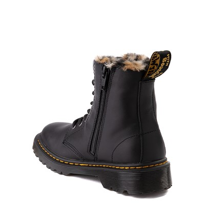Alternate view of Dr. Martens 1460 8-Eye Serena Boot - Little Kid / Big Kid - Black / Leopard