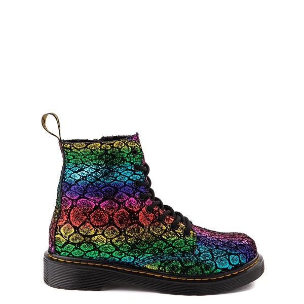 Dr. Martens 1460 Pascal Metallic 8-Eye Boot - Little Kid / Big Kid - Black / Rainbow