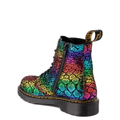 Alternate view of Dr. Martens 1460 Pascal Metallic 8-Eye Boot - Little Kid / Big Kid - Black / Rainbow